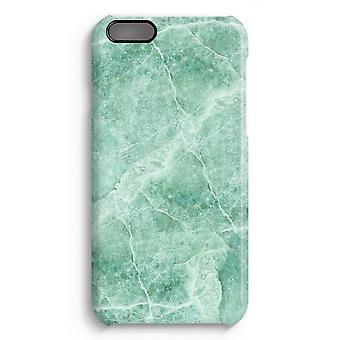 iPhone 6 Plus Full Print Fall (glänzend) - Grüner Marmor