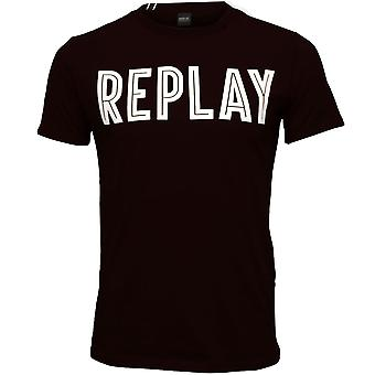 Replay vet Logo T-Shirt, Marine