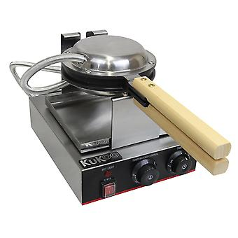 Single Waffle Maker Non-Stick Commercial Catering Kitchen Stainless Steel