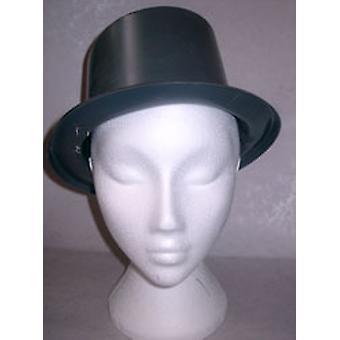 Top Hat Plastic Plain Black