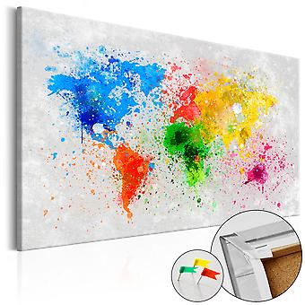 Decorative Pinboard - Expressionism of the World [Cork Map]