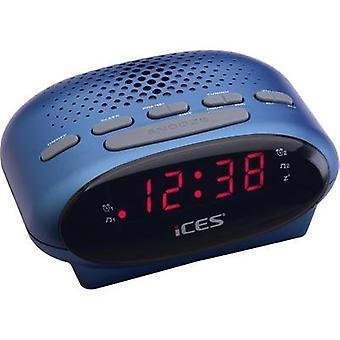 ICES ICR-210 Radio wekker FM Blauw