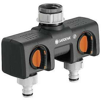 GARDENA 8193-20 2-suuntainen jakaja letku liitin, 30,3 mm (1) se, 24,2 mm (3/4) se paineen säädin