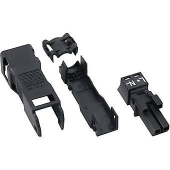 WAGO Mains connector WINSTA MINI Series (mains connectors) WINSTA MINI Socket, straight Total number of pins: 2 16 A Black 1 pc(s)