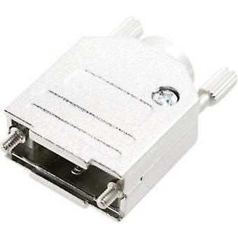 MH Connectors MHDTZK-N-25-RA-K 6560-0105-03 D-SUB housing Number of pins: 25 Metal 180 ° Silver 1 pc(s)