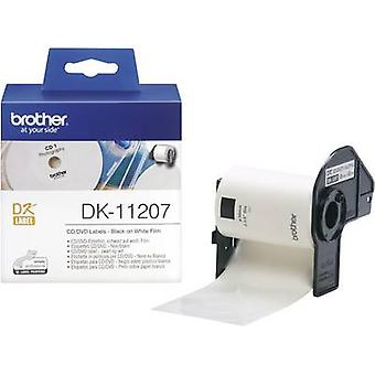 Brother DK-11207 Label roll Ø 58 mm Film White 100 pc(s) Permanent DK11207 CD labels, DVD labels