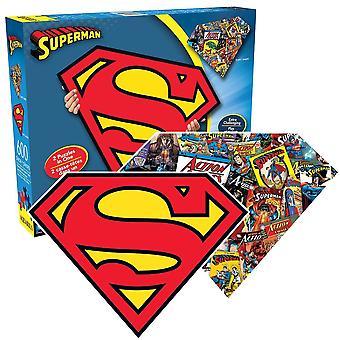 Superman geformte 600 Stück Doppel doppelseitigen Jigsaw Puzzle-541 X 406 Mm (Nm 75017)