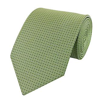 Knyta slips tie slips bred 8cm limegrön fyrkantiga mönster Fabio Farini