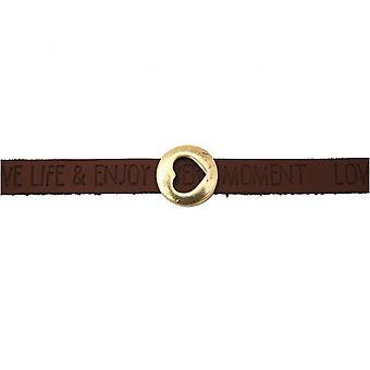 Brown - dark - magnetic lock - bracelet - heart - love - WISHES-