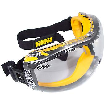 Dewalt Mens DeWalt Concealer Adjustable Rubber Safety Goggle