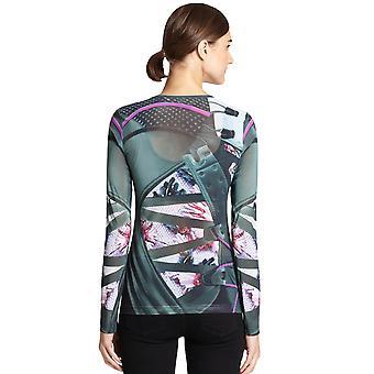 Adidas oryginały damskie Mary Katrantzouu długi rękaw Mesh zamontowane T Shirt Top