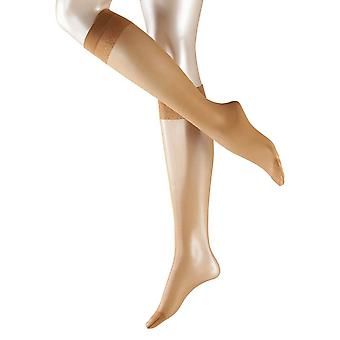 Falke Matt Deluxe 20 Denier Transparent Matt knä höga Tights - Sun Tan