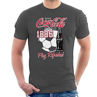 Jogo de futebol americano da Coca-Cola atualizada t-shirt dos homens