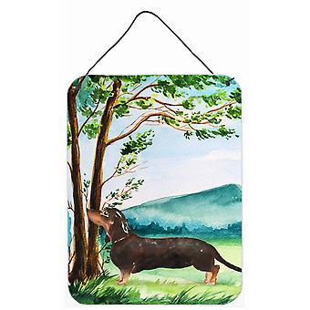 Under the Tree Dachshund Wall or Door Hanging Prints