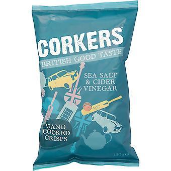 Corkers Sea Salt & Cider Vinegar Crisps