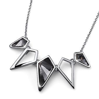 Oliver Weber Chain Kite Rhodium, Silver Night