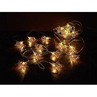 Polarlite LDC-02-005 Holiday lights (motif) Stars Inside mains-powered No. of bulbs 16 LED (monochrome) Warm white Illuminated length: 4.5 m