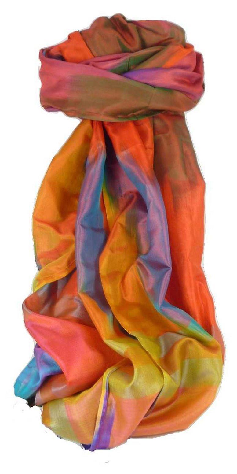 Varanasi Ekal Premium Silk Long Scarf Heritage Range Arun 9 by Pashmina & Silk