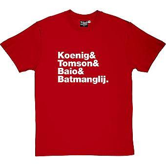 Vampire Weekend Line-Up Red Men's T-Shirt
