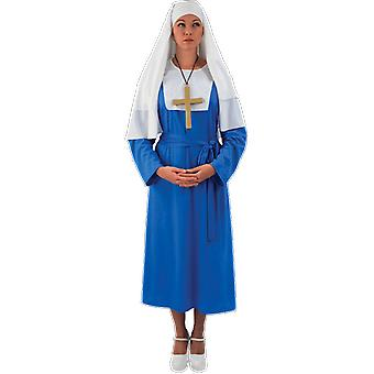 Orion Costumes Womens Blue Nun Sister Act Robe Religious Fancy Dress Costume