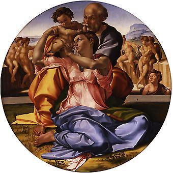 Святое семейство, Микеланджело Буонарроти, 50x50cm