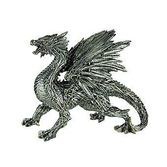 Silver Swords Dragon Decorative Statue