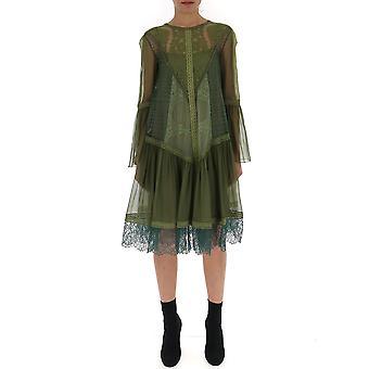 Alberta Ferretti 04211614a0439 Women's Green Cotton Dress