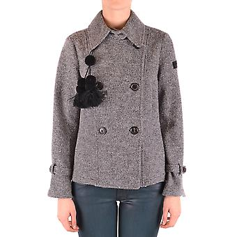 Peuterey Ezbc017098 Women's Grey Wool Outerwear Jacket