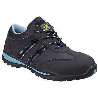 Amblers Womens/Ladies Lace Up Nubuck Leather Safety Trainer