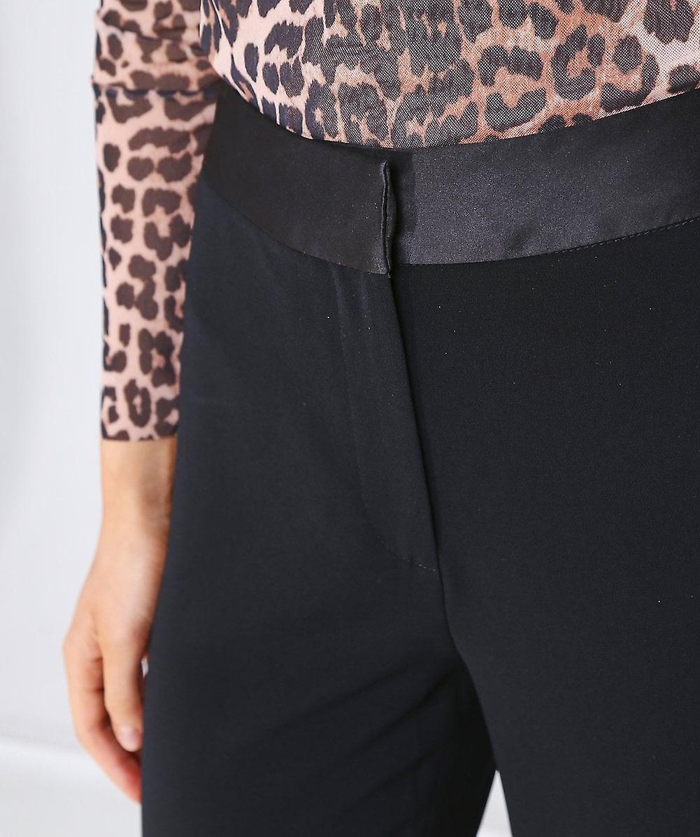 Diane Von Furstenberg Garnett Satin Waist Flared Trousers 9sIa2l