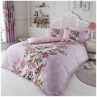 Glicínias borboleta aves Floral edredom colcha tampa Floral cama Set fronha