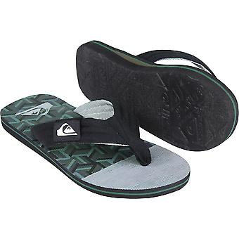 Sandalias de hombre Quiksilver Molokai reclina - negro/verde