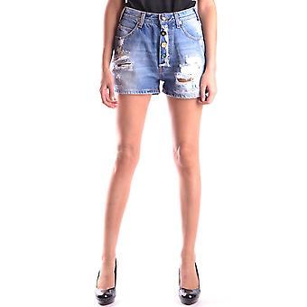Semi-couture Ezbc156004 Women's Blue Denim Shorts