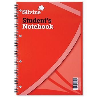 Silvine A4 Students Wire Bound Exercise Books 60 Leaves (Pack of 12)
