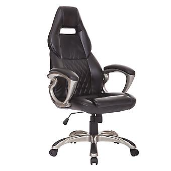 HOMCOM Racing Gaming Sports Chair Swivel Desk Chair Executive Leather Office Chair Computer PC chairs Height Adjustable Armchair
