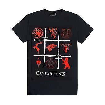 メン&アポスのゲーム・オブ・スローンズハウス シギルズソーズTシャツ