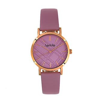 Sophie and Freda Budapest Leather-Band Watch - Pink