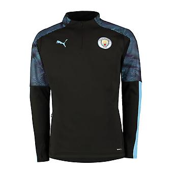 2019-2020 Manchester City Puma Training Fleece (Black)