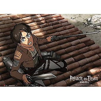 Fabric Poster - Attack on Titan - New Eren Fear (Wall Art) Anime Gifts ge79074