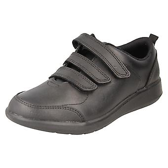 Jongens Clarks formele/school schoenen scape Sky