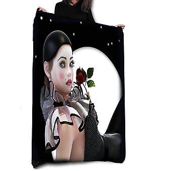 Pierrette moon - fleece blanket / throw / tapestry