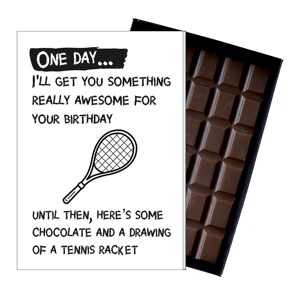Funny Birthday Gift for Tennis Player Rude Boxed Chocolate Greeting Card Present OD140