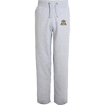 Royal Hussars PWO - Licensed British Army Embroidered Open Hem Sweatpants / Jogging Bottoms