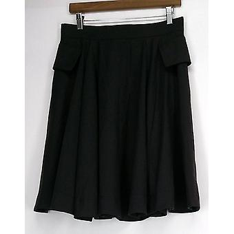 Nuovo Borgo Skirt Back Zip A-Line w/ Flap Covered Seam Pockets Brown NEW