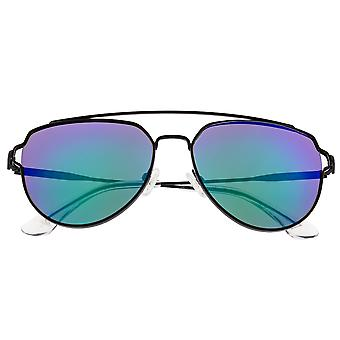 Sixty One Nudge Polarized Sunglasses - Black/Blue-Green
