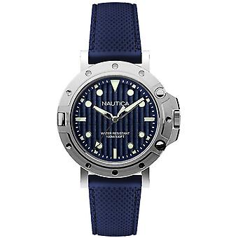 Nautica nst 800 gent's Quartz Analog Man Watch with NAD12547G Rubber Bracelet