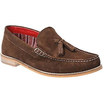 Base London Mens Tempus Slip On Suede Leather Loafer Shoes