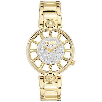 Versus Versace | Mulheres ' s Kirstenhof | Bracelete banhado a ouro | Glitter dial VSP491419 Watch