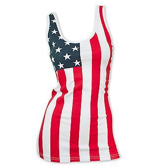 USA Women's Patriotic American Flag Tank Top