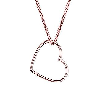 Elli Necklace with Woman Pendant PlateD in Rose Gold